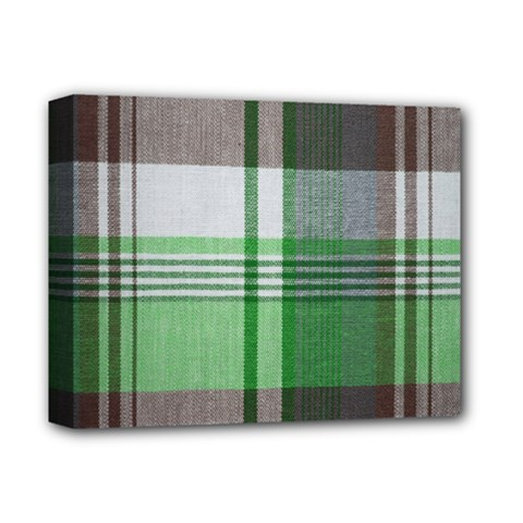 Plaid Fabric Texture Brown And Green Deluxe Canvas 14  X 11  by BangZart