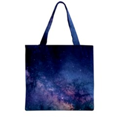 Galaxy Nebula Astro Stars Space Grocery Tote Bag by paulaoliveiradesign