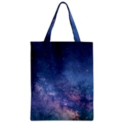 Galaxy Nebula Astro Stars Space Zipper Classic Tote Bag by paulaoliveiradesign