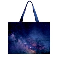 Galaxy Nebula Astro Stars Space Medium Zipper Tote Bag by paulaoliveiradesign