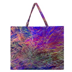 Poetic Cosmos Of The Breath Zipper Large Tote Bag by BangZart