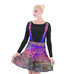 Poetic Cosmos Of The Breath Suspender Skater Skirt by BangZart