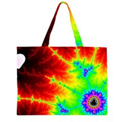 Misc Fractals Zipper Large Tote Bag by BangZart