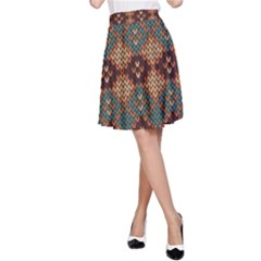 Knitted Pattern A Line Skirt