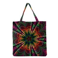Kaleidoscope Patterns Colors Grocery Tote Bag by BangZart