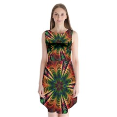Kaleidoscope Patterns Colors Sleeveless Chiffon Dress