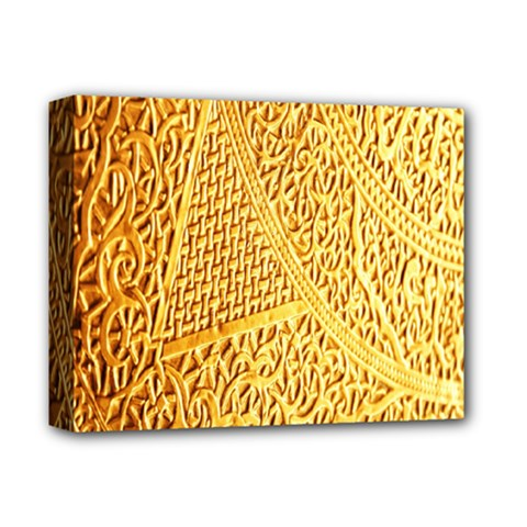 Gold Pattern Deluxe Canvas 14  X 11  by BangZart