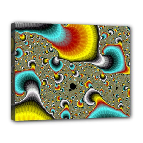 Fractals Random Bluray Canvas 14  X 11  by BangZart