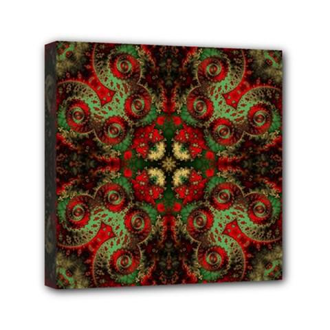 Fractal Kaleidoscope Mini Canvas 6  X 6  by BangZart