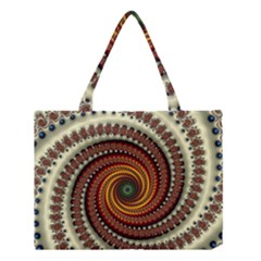 Fractal Pattern Medium Tote Bag by BangZart