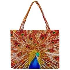 Fractal Peacock Art Mini Tote Bag by BangZart