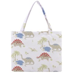 Dinosaur Art Pattern Mini Tote Bag by BangZart