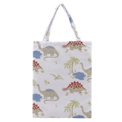 Dinosaur Art Pattern Classic Tote Bag by BangZart