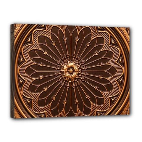 Decorative Antique Gold Canvas 16  X 12  by BangZart