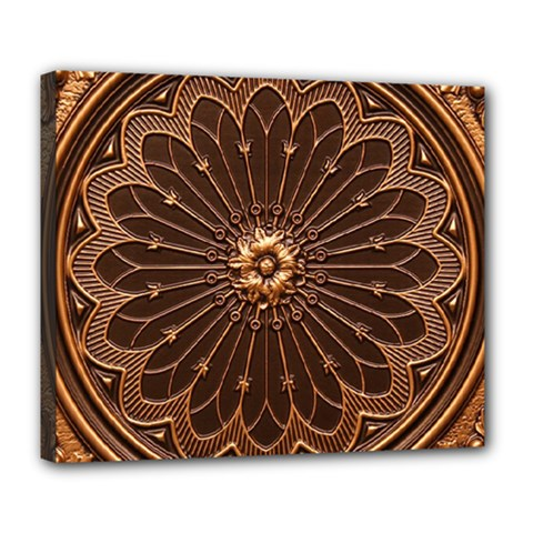 Decorative Antique Gold Deluxe Canvas 24  X 20   by BangZart