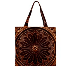 Decorative Antique Gold Zipper Grocery Tote Bag by BangZart
