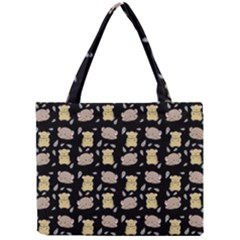 Cute Hamster Pattern Black Background Mini Tote Bag by BangZart