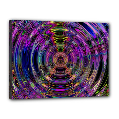Color In The Round Canvas 16  X 12  by BangZart