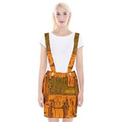 Circuit Board Pattern Braces Suspender Skirt by BangZart