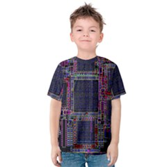 Cad Technology Circuit Board Layout Pattern Kids  Cotton Tee by BangZart