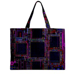 Cad Technology Circuit Board Layout Pattern Medium Tote Bag by BangZart