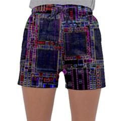 Cad Technology Circuit Board Layout Pattern Sleepwear Shorts