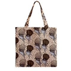 Bouffant Birds Zipper Grocery Tote Bag by BangZart