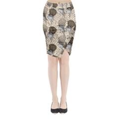 Bouffant Birds Midi Wrap Pencil Skirt by BangZart