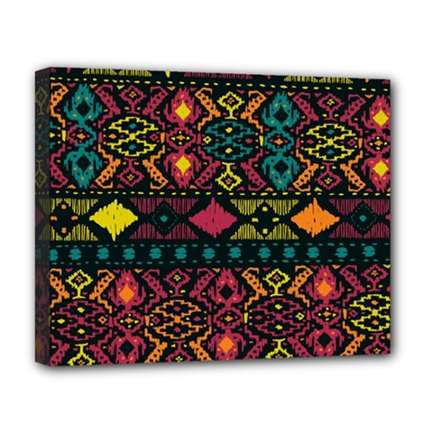 Bohemian Patterns Tribal Deluxe Canvas 20  X 16   by BangZart
