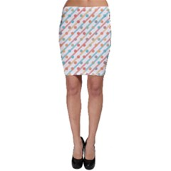 Simple Saturated Pattern Bodycon Skirt by linceazul