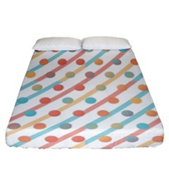 Simple Saturated Pattern Fitted Sheet (queen Size) by linceazul