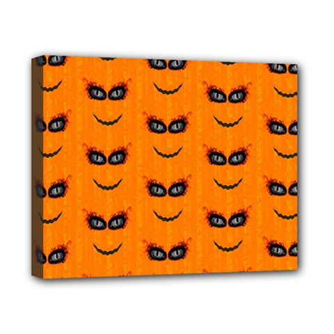 Funny Halloween   Face Pattern 2 Canvas 10  X 8  by MoreColorsinLife