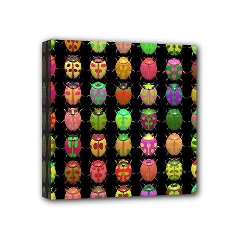 Beetles Insects Bugs Mini Canvas 4  X 4  by BangZart