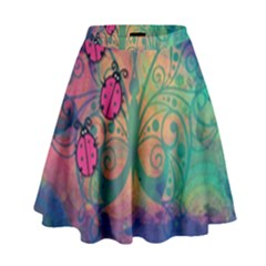 Background Colorful Bugs High Waist Skirt by BangZart