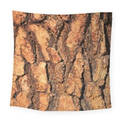 Bark Texture Wood Large Rough Red Wood Outside California Square Tapestry (large)
