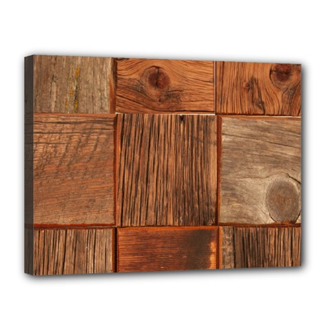 Barnwood Unfinished Canvas 16  X 12  by BangZart