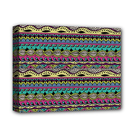 Aztec Pattern Cool Colors Deluxe Canvas 14  X 11  by BangZart