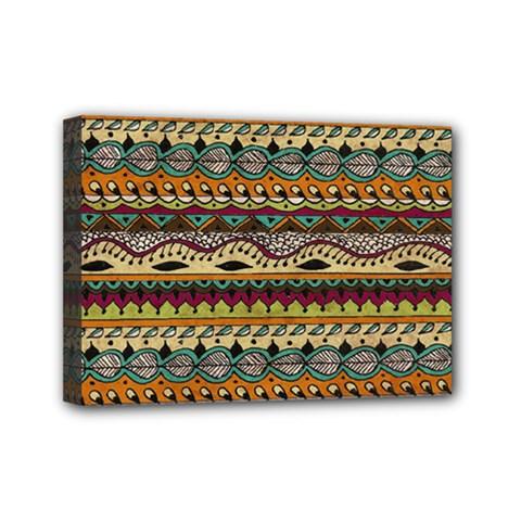 Aztec Pattern Ethnic Mini Canvas 7  X 5  by BangZart