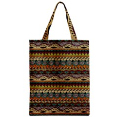 Aztec Pattern Ethnic Zipper Classic Tote Bag by BangZart