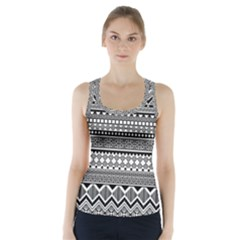 Aztec Pattern Design(1) Racer Back Sports Top