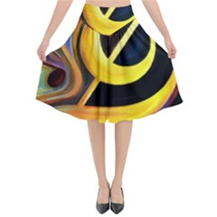 Art Oil Picture Music Nota Flared Midi Skirt by BangZart