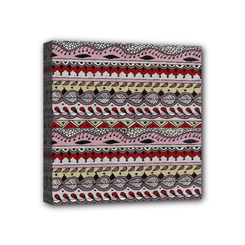 Aztec Pattern Art Mini Canvas 4  X 4  by BangZart