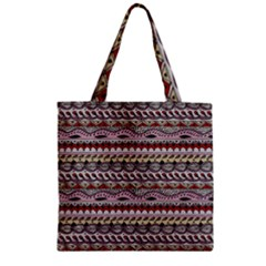 Aztec Pattern Art Zipper Grocery Tote Bag by BangZart