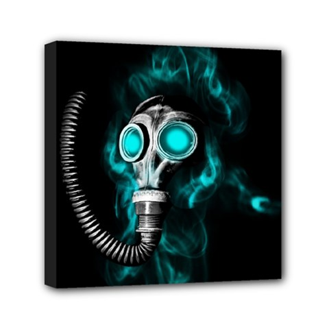 Gas Mask Mini Canvas 6  X 6  by Valentinaart