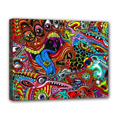 Art Color Dark Detail Monsters Psychedelic Canvas 14  X 11  by BangZart