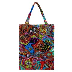 Art Color Dark Detail Monsters Psychedelic Classic Tote Bag by BangZart