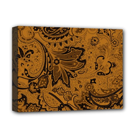 Art Traditional Batik Flower Pattern Deluxe Canvas 16  X 12   by BangZart