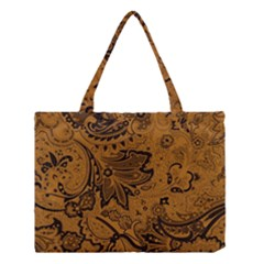 Art Traditional Batik Flower Pattern Medium Tote Bag by BangZart