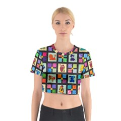 Animal Party Pattern Cotton Crop Top