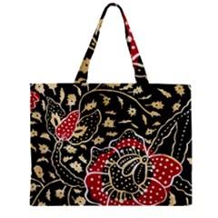 Art Batik Pattern Zipper Mini Tote Bag by BangZart